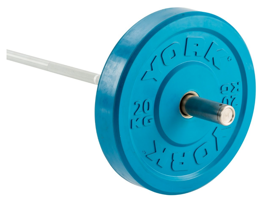 York Coloured Olympic Rubber Bumper Plates (Up to 25kg)