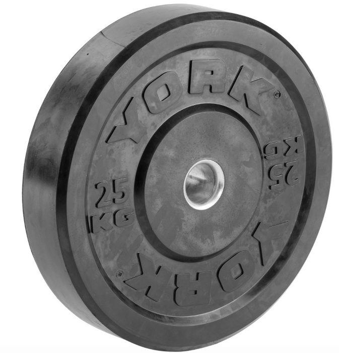 York Olympic Rubber Bumper Plate (up to 25kg)