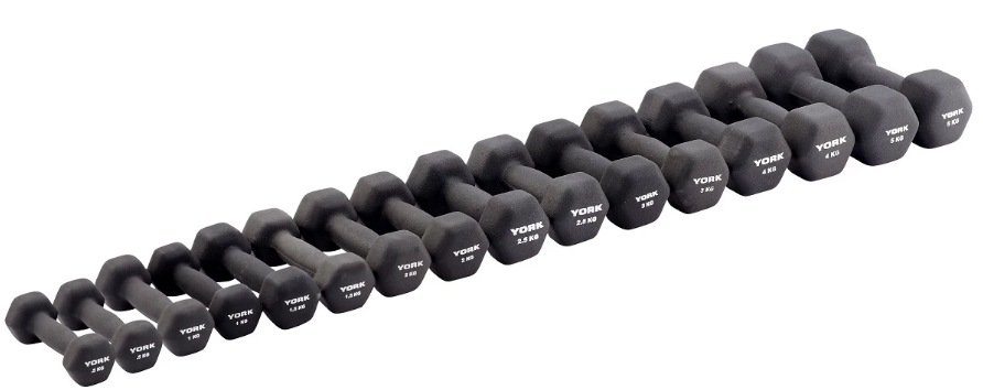 York 2kg Neo Hex Individual Dumbbell