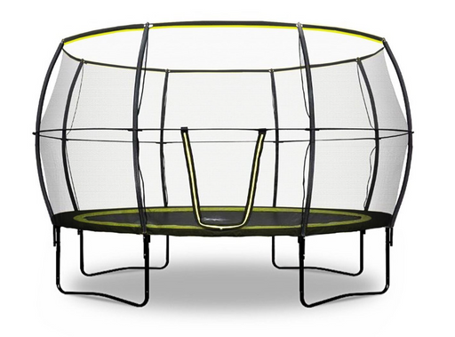 Rebo Base Jump 12FT Trampoline With Halo II Enclosure - 2020 Black Edition