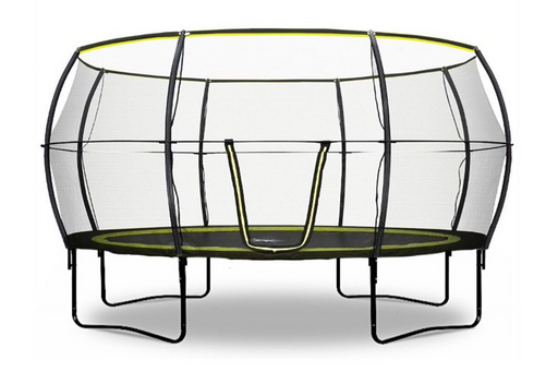 Rebo Base Jump 14FT Trampoline With Halo II Enclosure - 2020 Black Edition