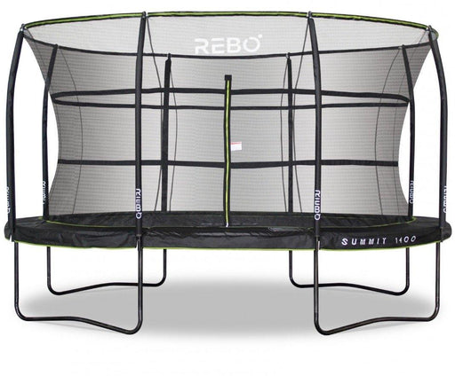 Rebo Summit Oval 10ft X 14ft Trampoline And Safety Enclosure - Summit 1400