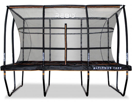 Rebo Altitude Rectangle 10ft X 14ft Trampoline And Safety Enclosure - Altitude 1400
