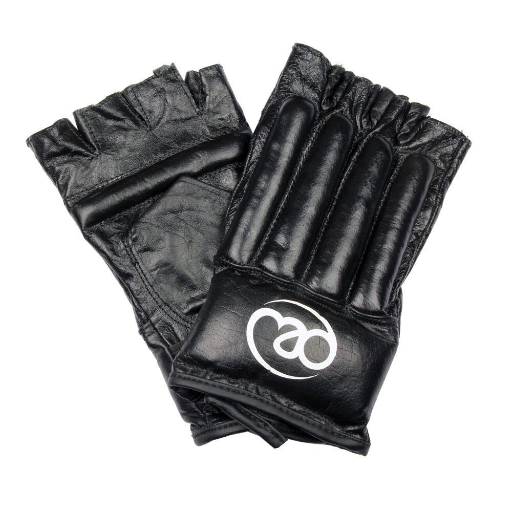 Boxing Mad Leather Fingerless Bag Glove - Pair
