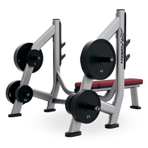 Life Fitness Signature Series Olympic Bench Weight Storage