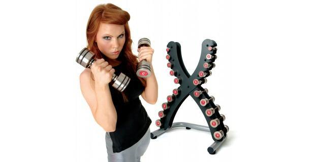 Escape Fitness Classic Steel Dumbbell Set and X-Rack (up to 20kg)