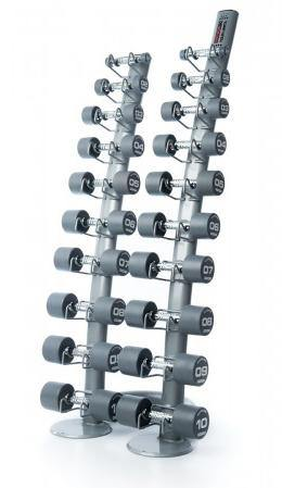Escape Fitness Classic Urethane (PU) Dumbbells Set with Rack (up to 10kg)