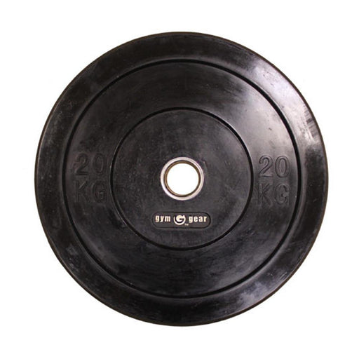 GymGear Black Rubber Bumper Olympic Plates