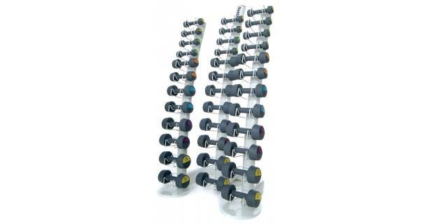 Handweight Rack (Holds 18 Pairs) Silver