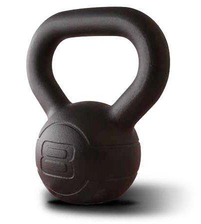Jordan Cast Iron Kettlebell Set of 9 Kettlebells and Rack