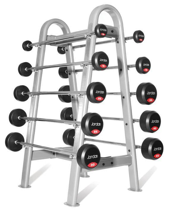 Jordan Ignite Urethane Barbells Set 10-45kg with Straight Bar and Rack