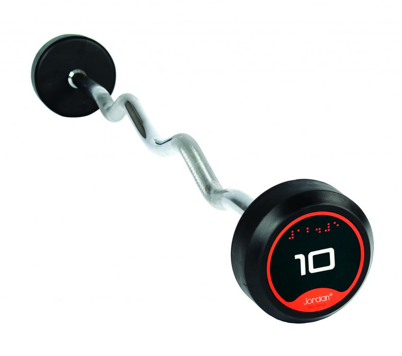 Jordan Rubber Barbells Set 10-45kg with Curl Bars