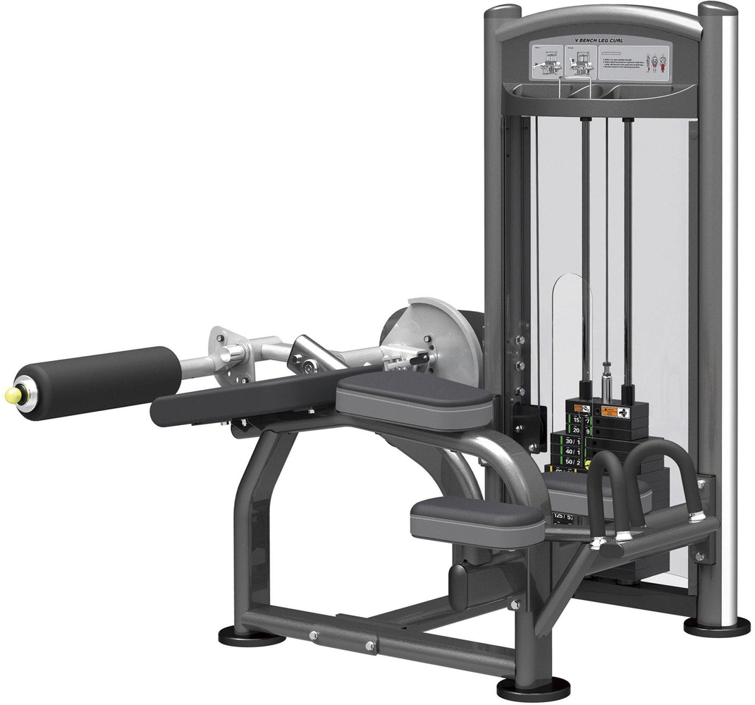 GymGear Elite Series Lying Leg Curl Selectorised Station