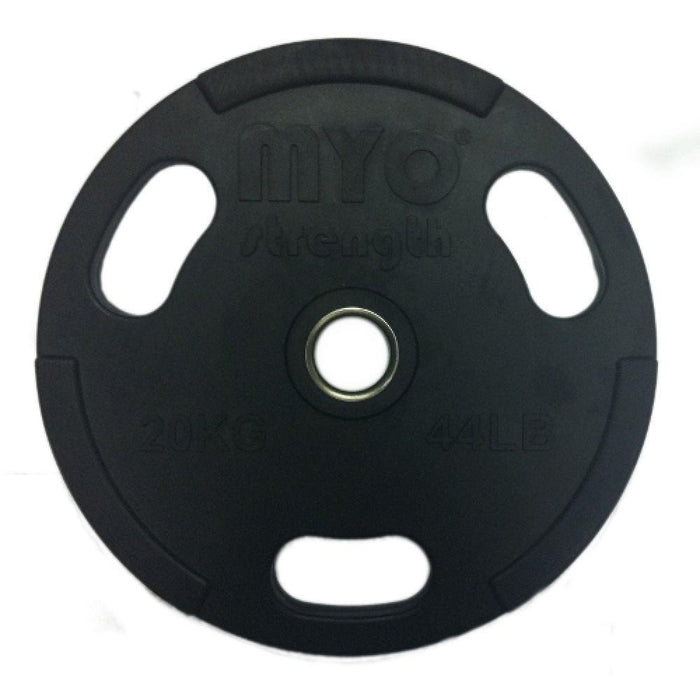 MYO Strength Olympic Disc Rubber Coated Black