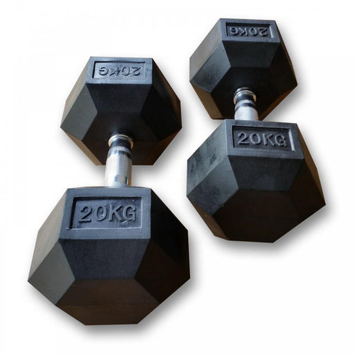 MYO Strength Rubber Dumbbells HEX - 2.5kg Pair