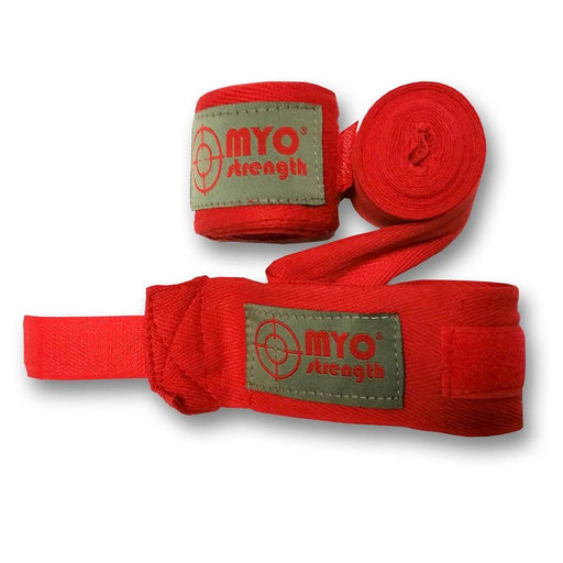 MYO strength Hand Wrap – Red – 100% Cotton 2.5m