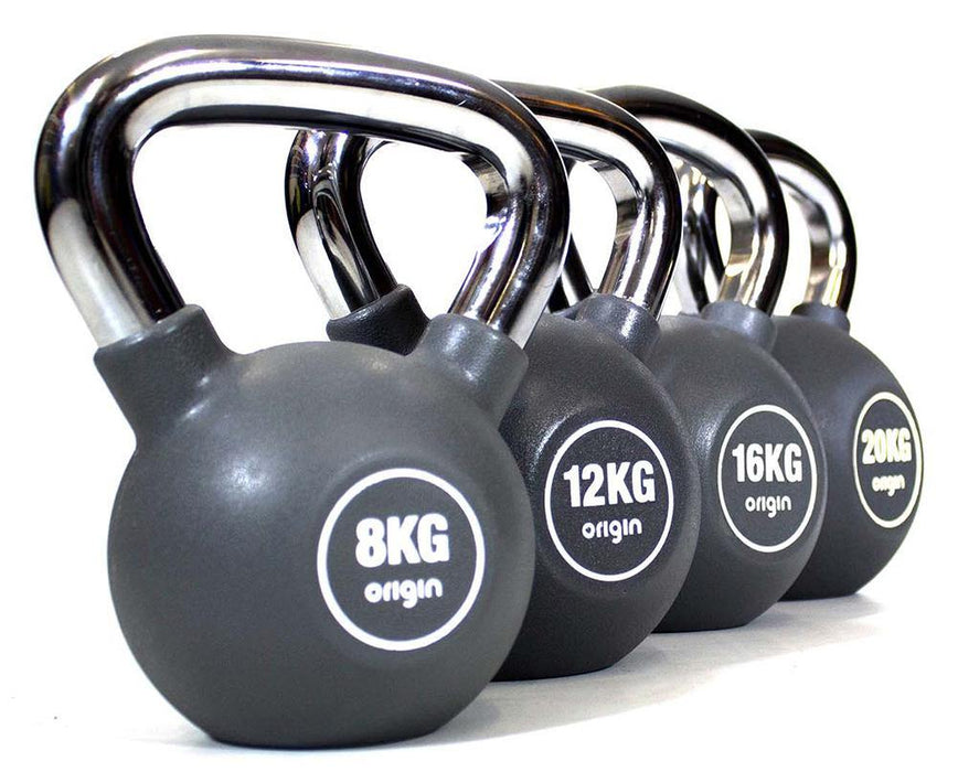 Origin Urethane Kettlebell Set Including Rack (Up to 28kg)