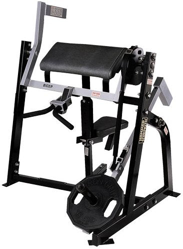 Hammer Strength Seated Bicep Plate Loaded