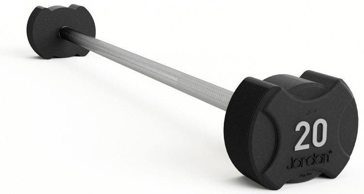 Jordan Ignite Rubber Barbells Set 10-45kg with Straight Bars and Rack
