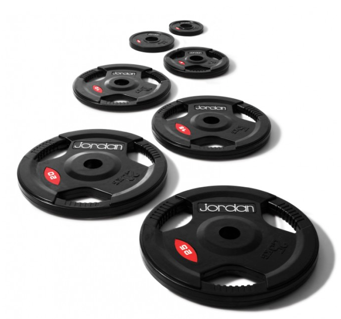 Jordan Olympic Black Rubber Rounded Disc Set (200kg)