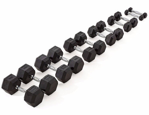 York Individual Rubber Hex Dumbbell (up to 30kg)