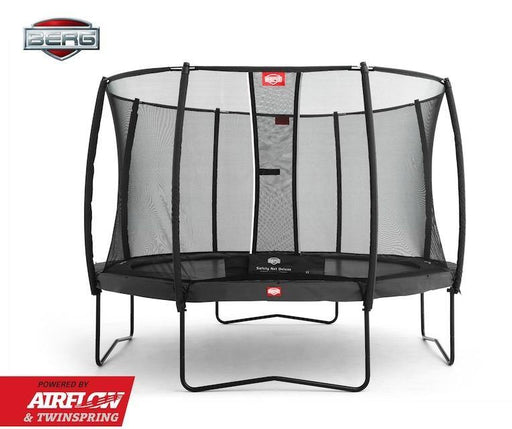 BERG Champion + Safety Net Deluxe Trampoline