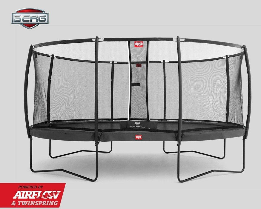 BERG Grand Champion + Safety Net Deluxe Trampoline