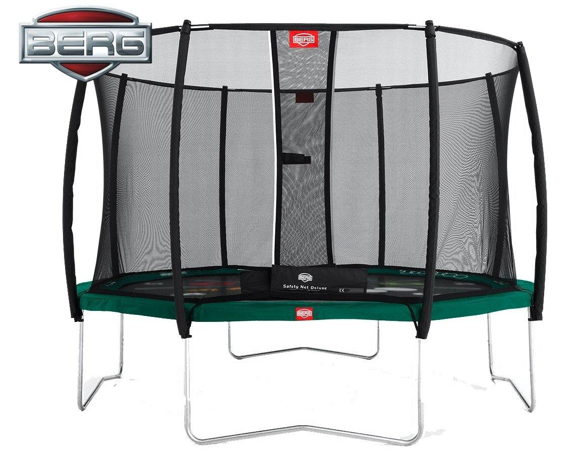 BERG Favorit 430 Tattoo + Safety Net Deluxe 430 (14ft) Trampoline