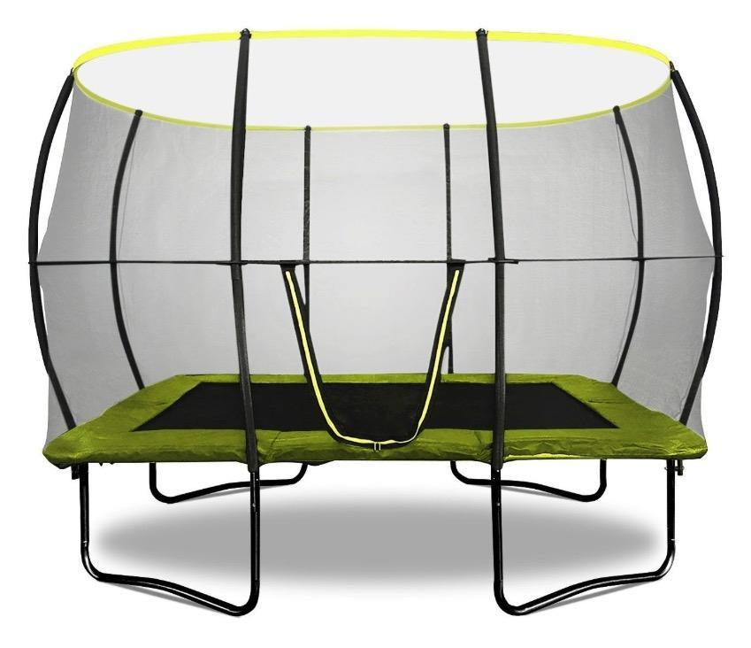Rebo Base Jump 10 X 7FT Rectangular Trampoline With Halo II Enclosure