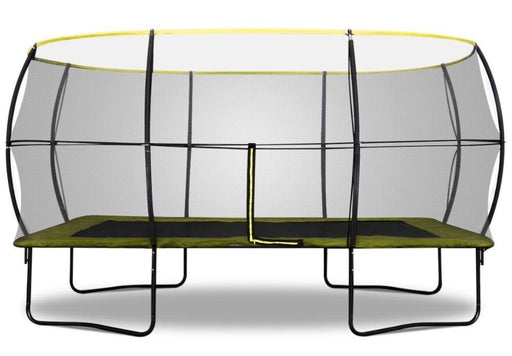 Rebo Base Jump 10 X 14FT Rectangular Trampoline With Halo II Enclosure