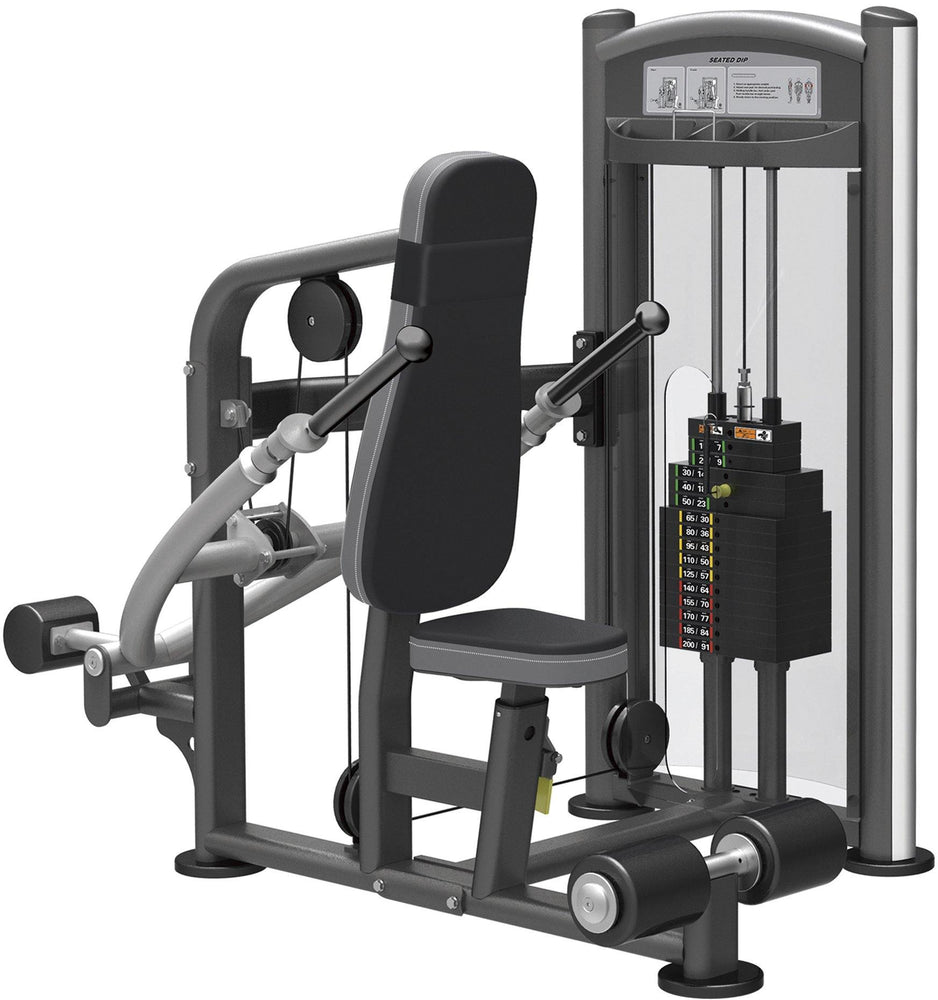 GymGear Elite Series Seated Dip Selectorised Station