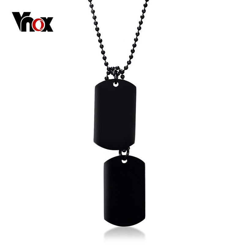 Elite Stainless Steel Double Dog Tag