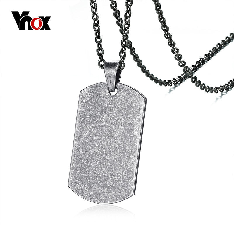 Elite Retro Silver Dog Tag