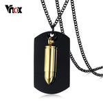 Elite Bullet Pendant Black Dog Tag