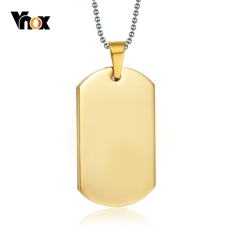 Elite Gold Dog Tag