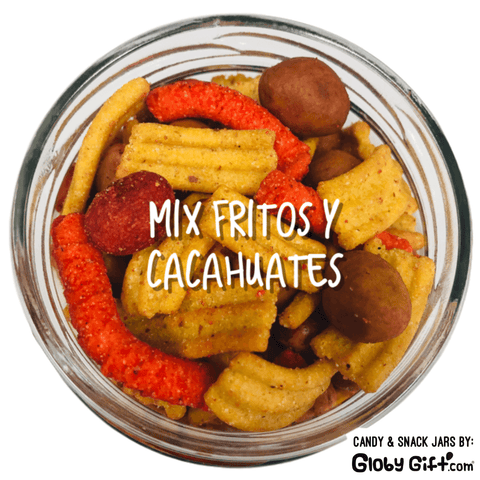 Jar 12 oz mix fritos y cacahuates