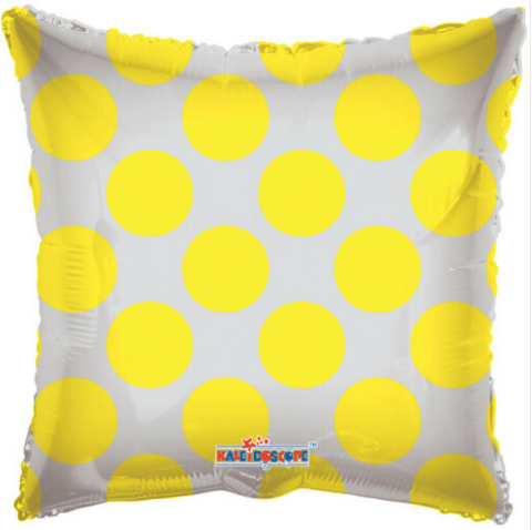 Rectangle clear polka dots yellow