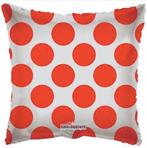Rectangle clear polka dots red