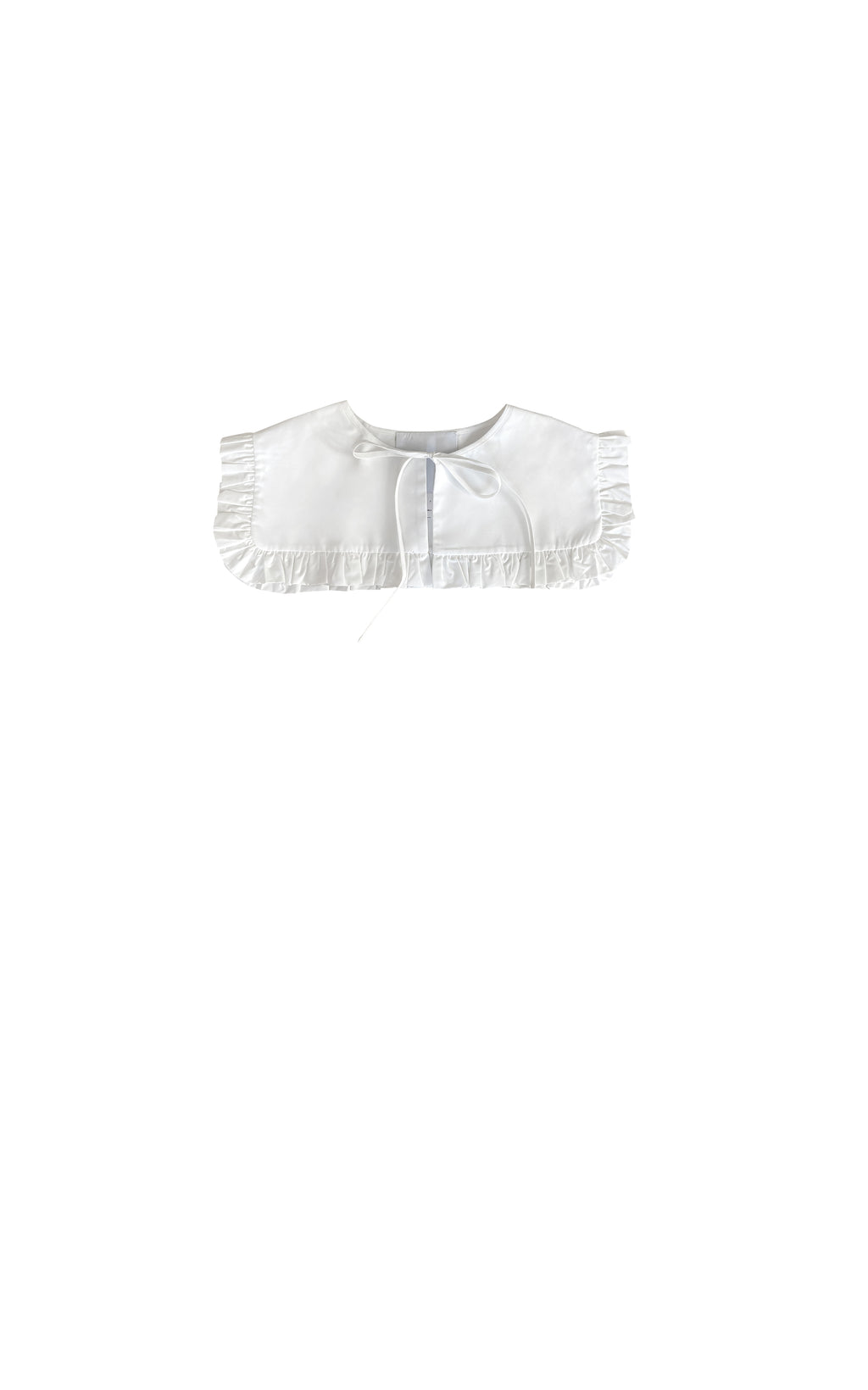 WHITE COTTON SQUARE COLLAR