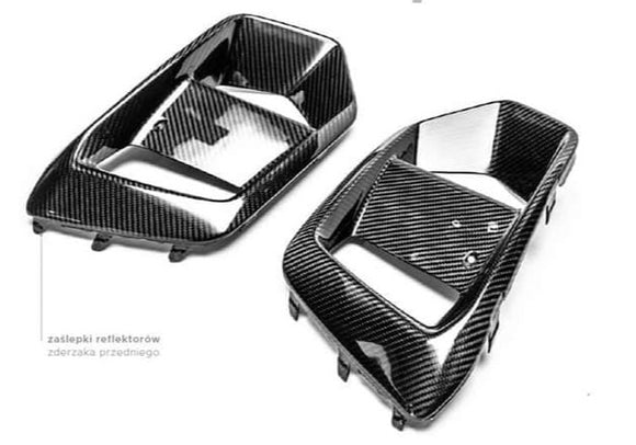 Pre-preg Carbon Fibre Front Fog Light Covers OEM Replacements