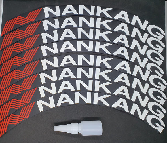 NANKANG Tyre Stickers - Full Car Set (8 Stickers - 2 Per Tyre)