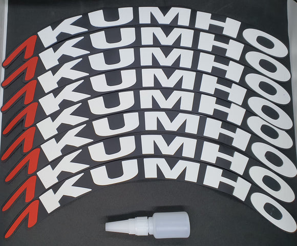 KUMHO Tyre Stickers - Full Car Set (8 Stickers - 2 Per Tyre)