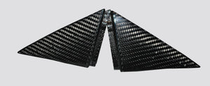 Carbon Fibre Rear Triangle Trim Covers