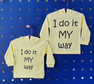 MY Way Long Sleeve Hoodie Top