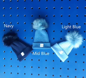 Beanie - Single Pom, Cashmere Blend