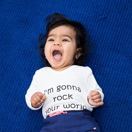 Rock Your World Long Sleeve Onesie
