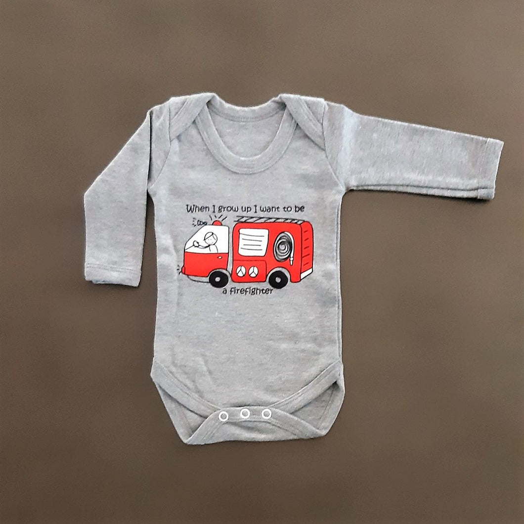 Firefighter Long Sleeve Onesie