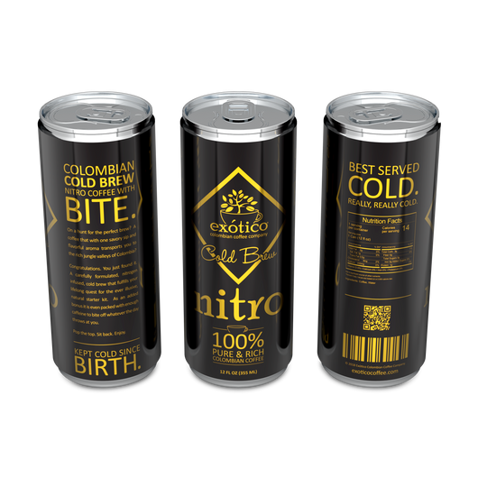 Exótico Cold Brew: Nitro Coffee (4-Pack)