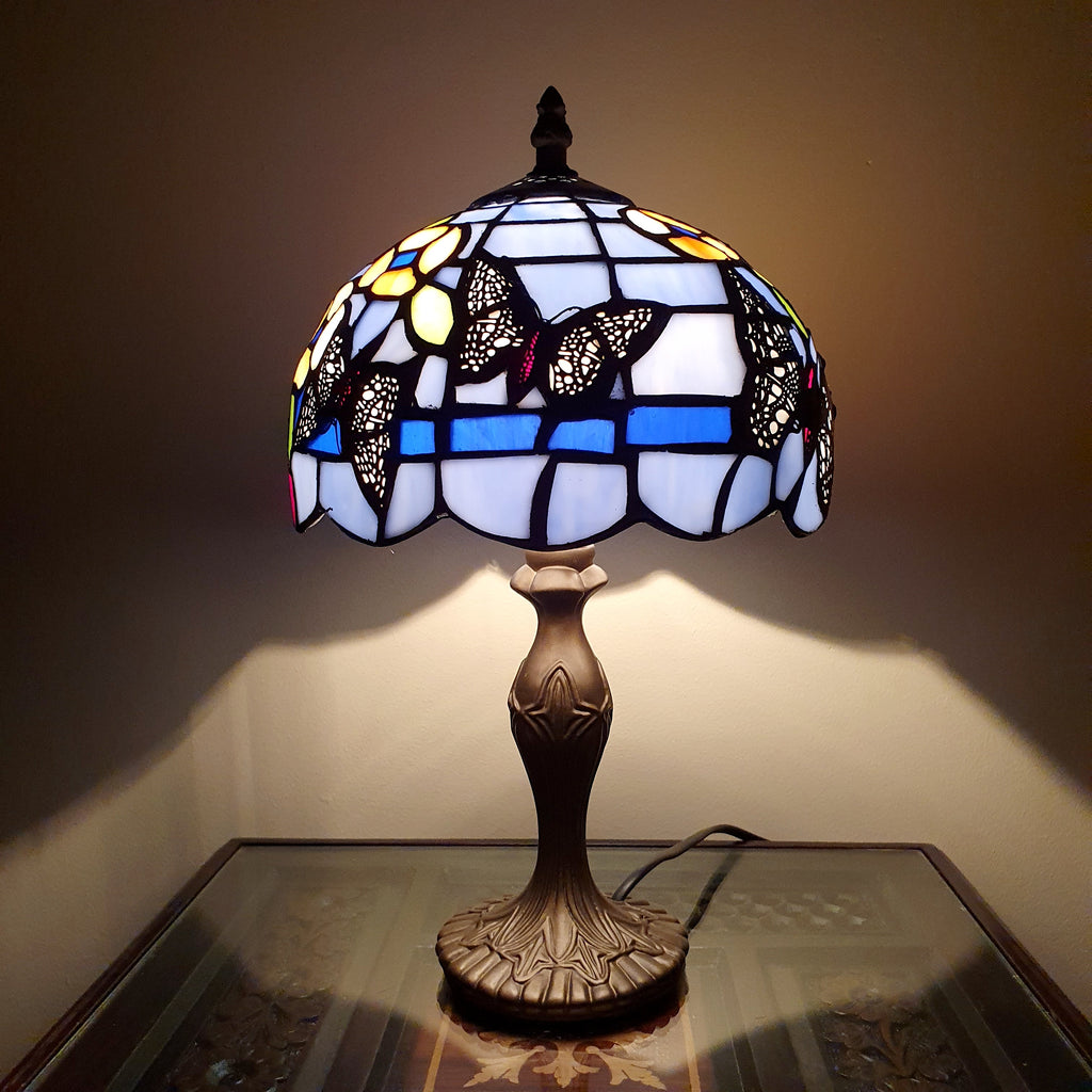 Handmade Tiffany Style Stained Glass Table Desk Lamp