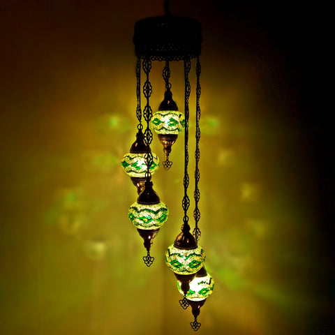 Turkish Chandeliers Moroccan Tiffany Style Glass Mosaic Hanging Lamp